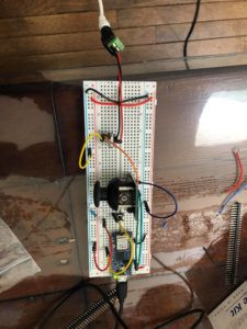breadboard with joystick module