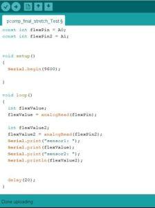 flex sensor arduino code