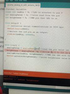 errors in Arduino code