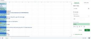 organizing on google sheets