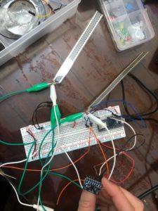 flex sensor and GY521 circuit