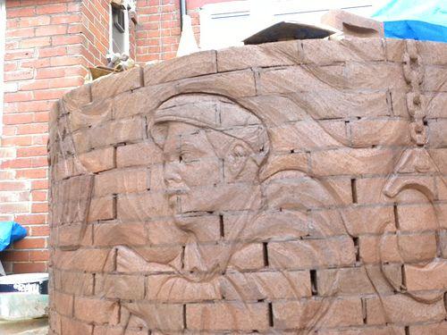 brick planter