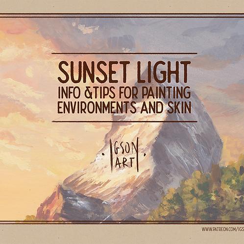 Sunset Light PDF Booklet + skin tones template