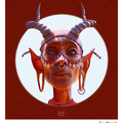 Swala Elder Print