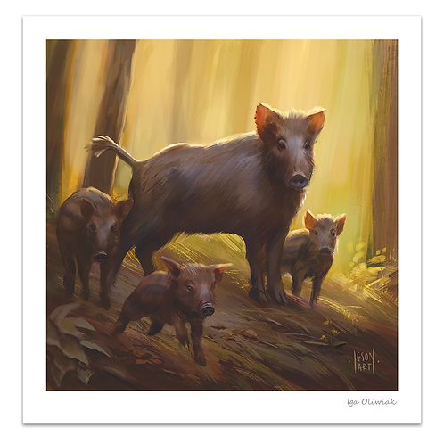 Wild Boars Print