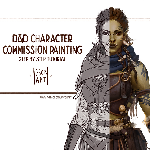 DnD character commission process .PDF booklet