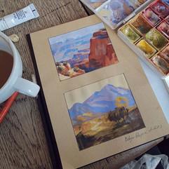 Edgar Payne studies