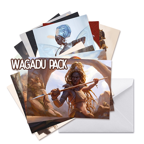 Postcard prints - set of 12 - Wagadu pack