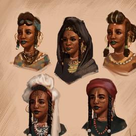 Wodaabe women sketches