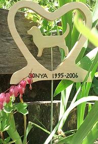 wooden pet memorial