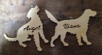 wooden pet ornament