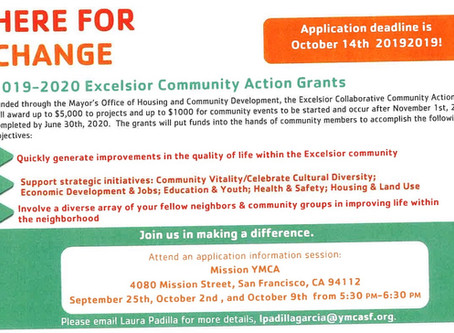 2019-2020 Excelsior Community Action Grants