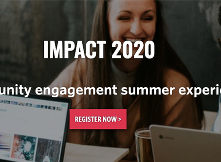 Impact 2020: a community engagement summer experience