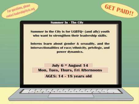 SUMMER IN THE CITY (14-18 YEARS OLD) | Paid Internship