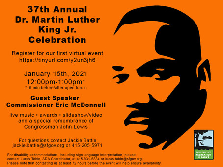 37th Annual Virtual MLK Celebration on January 15