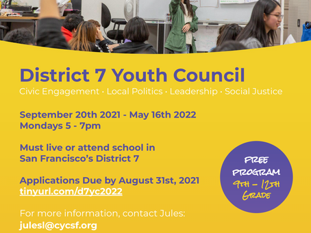 Council Member Application [Due August 31]