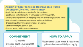 Youth Stewardship Program Internship Deadline Extended