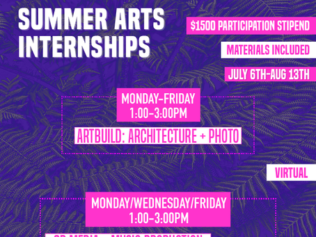Youth Art Exchange - Summer Internships