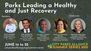 City Parks Alliance Summer Series through June 25
