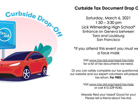 Tax-Aid Curbside Tax Document Drop Off