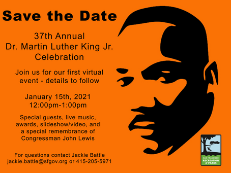 Save the Date - 37th Annual Dr. Martin Luther King Jr. Celebration