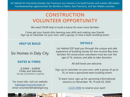 Habitat for Humanity Opportunities