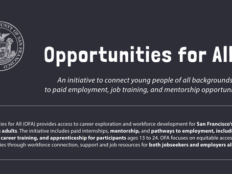 Opportunities for All: Summer 2020 Internship