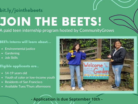 Paid Teen Opportunity: Join the Beets!