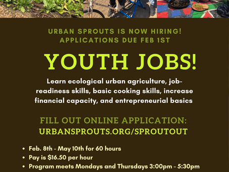 Urban Sprouts is Hiring!