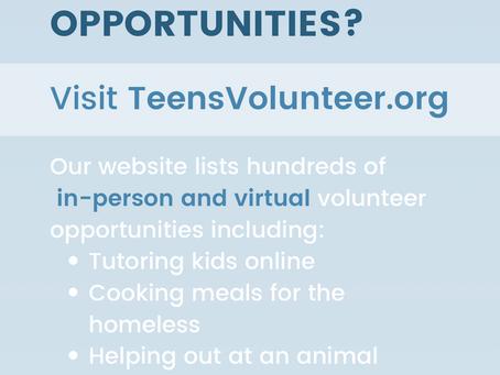 More Volunteer Opportunities - TeensVolunteer.org