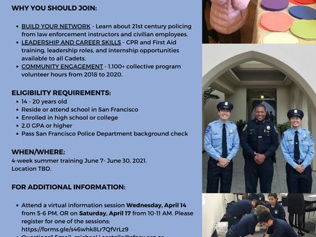 2021 Summer PAL Cadet Program