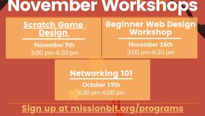Missionbit - November Workshops [Design & Networking]