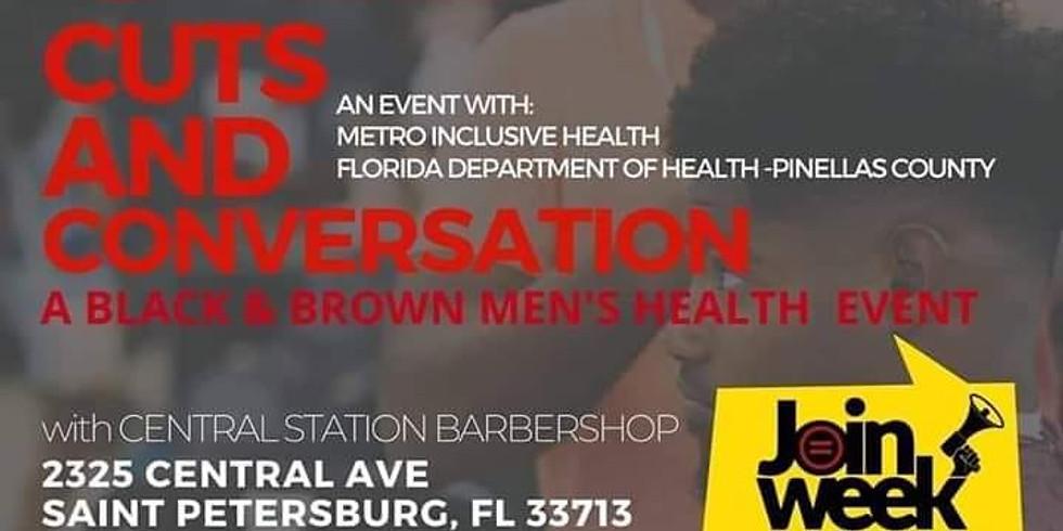 Cuts & Conversations: A Black & Brown Men's Health Event