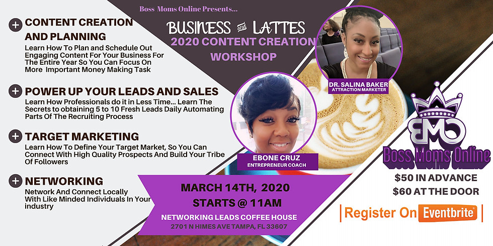 """""""Business and Lattes"""" Content Creation and Planning Workshop"""
