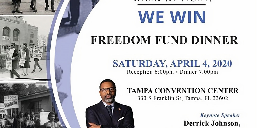 NAACP Annual Freedom Fund Dinner, Sat Apr 4, 6pm