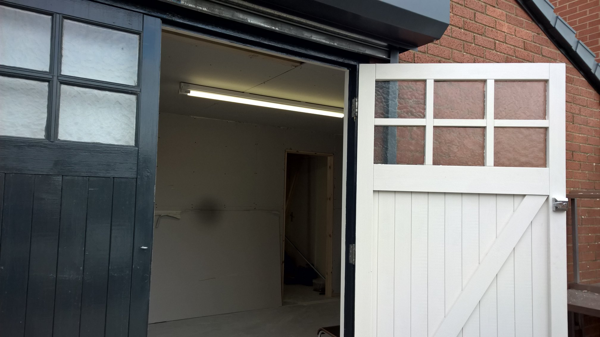 Unfinished main entrance