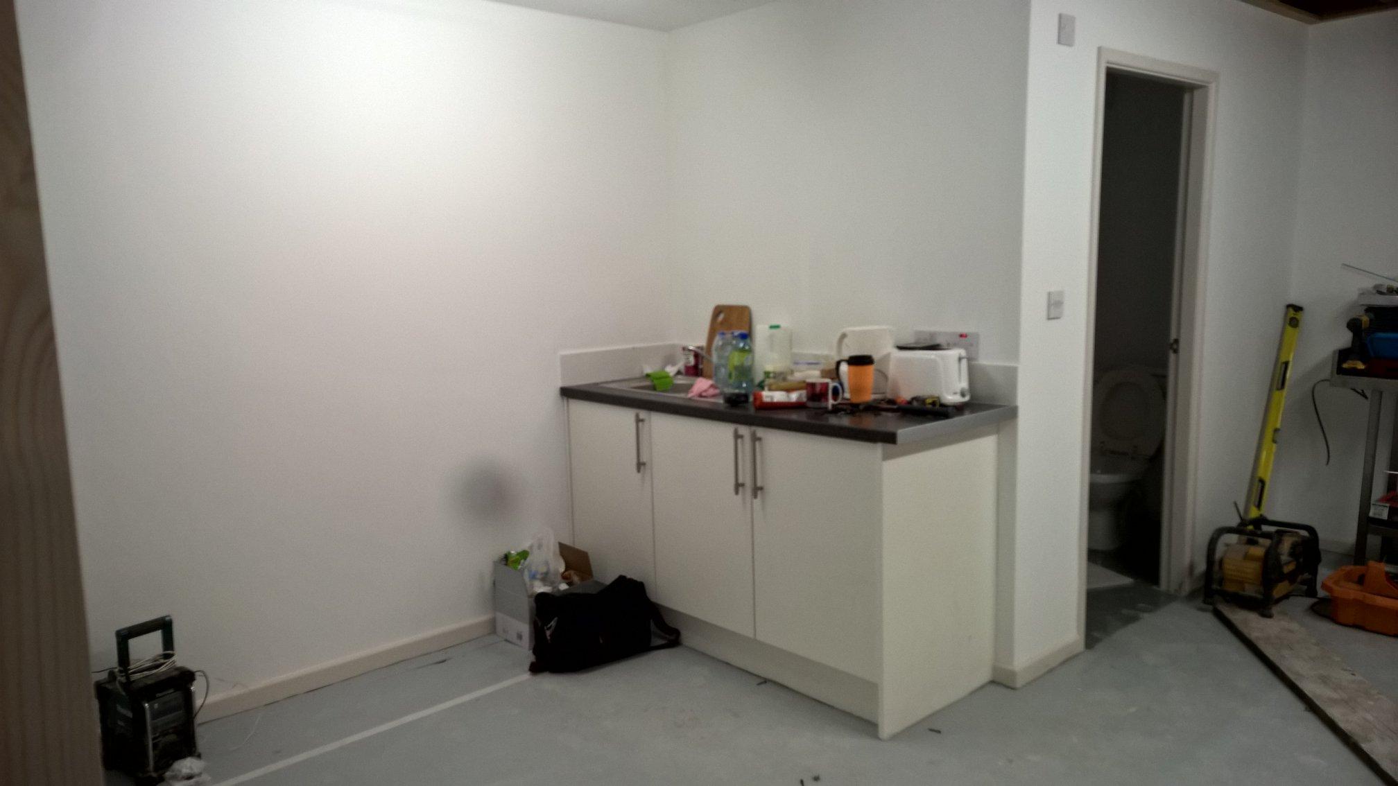 Unfinished kitchen