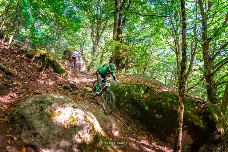 Mountain-bike in La Faggeta - Italy