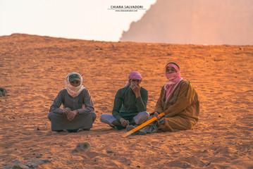 Bedouins in Wadi Rum Desert