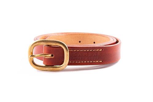 Heritage Belt Slim - British Tan