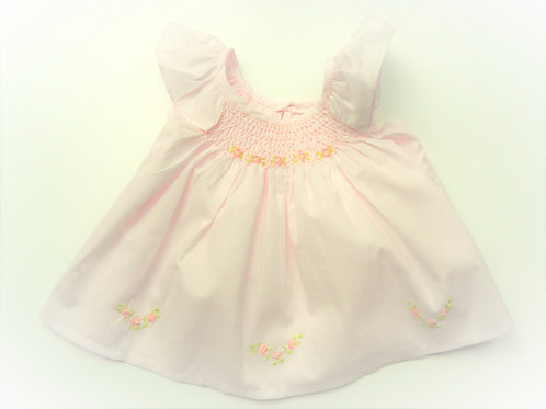 Anika Rose Butterfly Sleeve with Rosebud Trim (Pink)