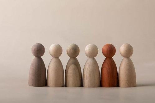 6 Natural Wooden Friends