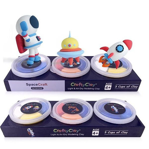 """""""SPACECRAFT"""" Air Dry Modeling Clay Set for Kids"""