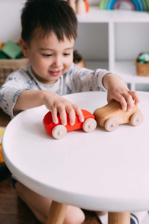 Small Wooden Car-Red