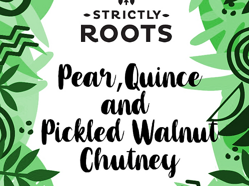 Pear, Quince and Pickled Walnut Chutney 200g Jar