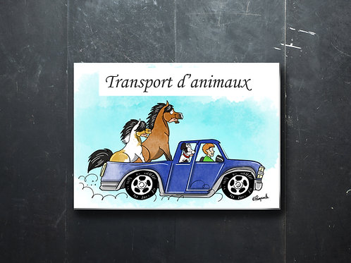 """Plaque """"Transport d'animaux"""""""