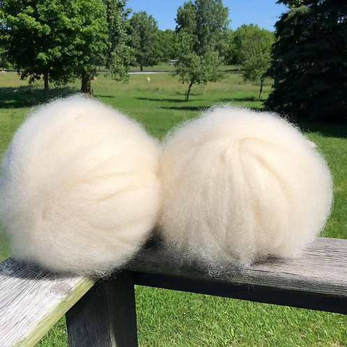 Border Leicester Wool Roving 4 oz.