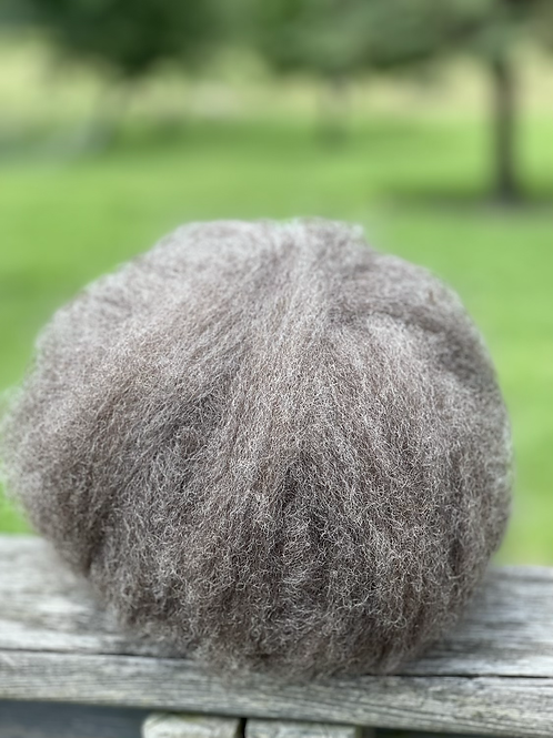 Natural Colored Border Leicester Wool Roving 4 oz.