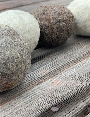Wool Dryer Balls & Lemongrass Essential Oil Set