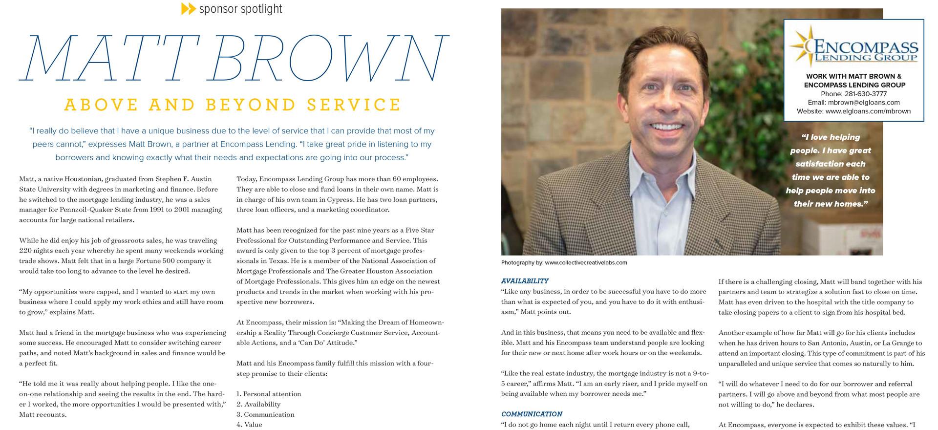 Advertisement Feature: Matt Brown, Encompass Lending
